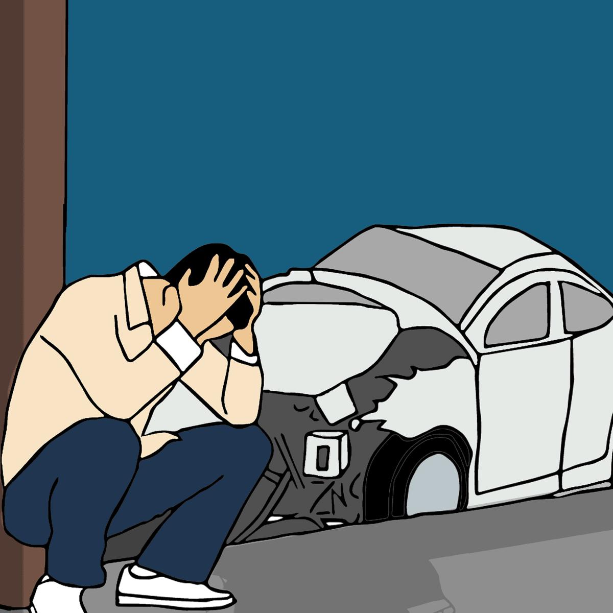 בן אדם שעשה תאונה